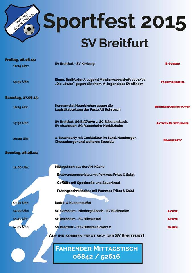 Sportfest SV Breitfurt 2015